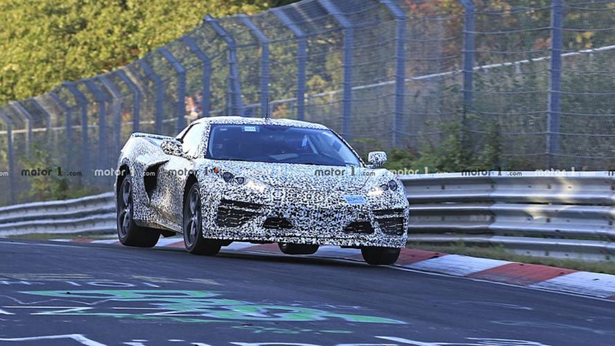 Mid-engined Chevy Corvette C8 new spy photos from the Nurburgring