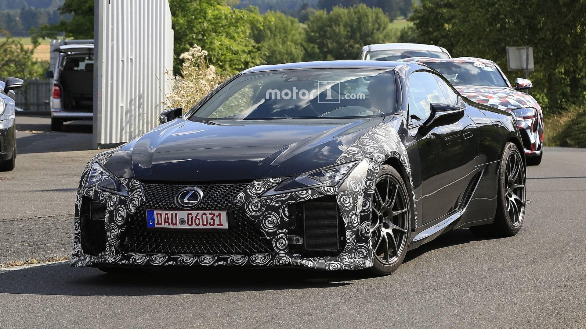 Lexus Lc F Spotted Hiding Aggressive Front Fascia