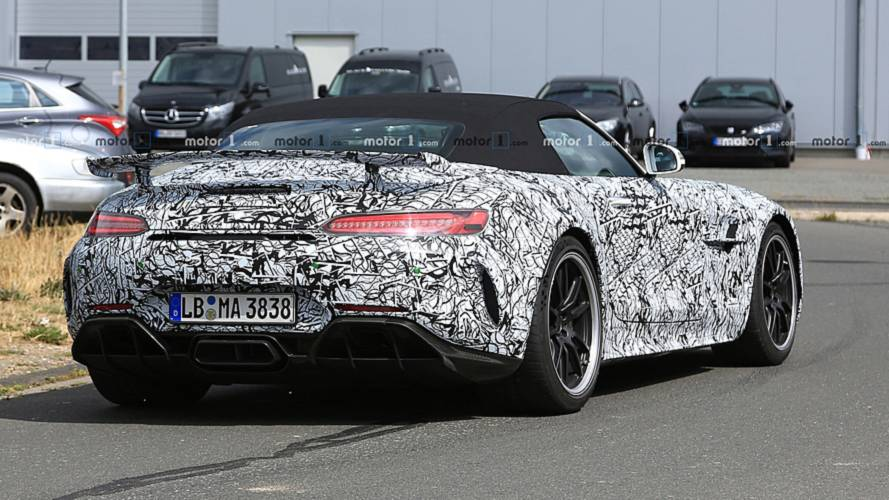 Mercedes AMG GT R Roadster spy photo