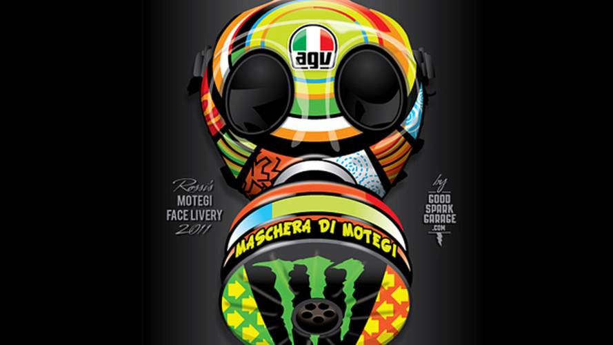 A Motegi gas mask for Valentino Rossi
