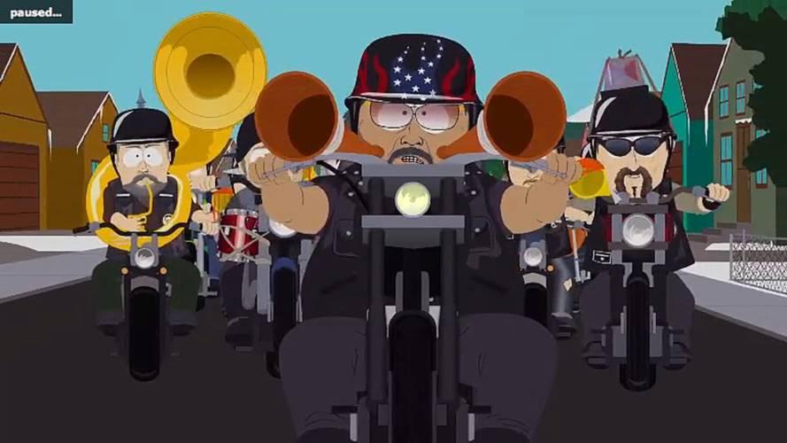 Adam Carolla on Harley riders