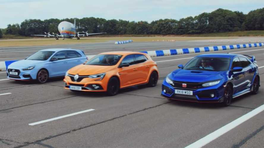 Top Gear drag races Civic Type R, Megane RS, i30 N