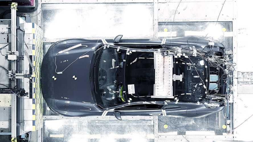 Watch Polestar 1 carbon fibre body endure crash test