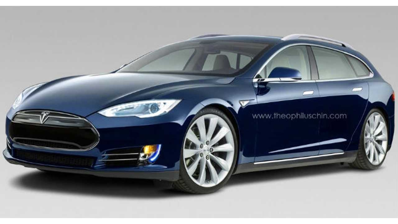 Rendered: Tesla Model ST Wagon