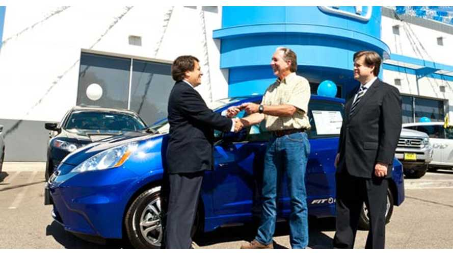Honda Delivers First Fit EV To Customer In California