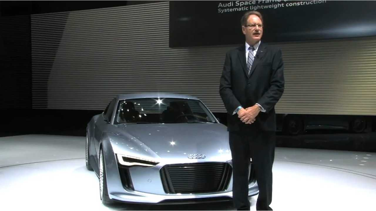 Johan de Nysschen Shows Off the Audi R8 e-tron At Its Debut At NAIAS in 2010
