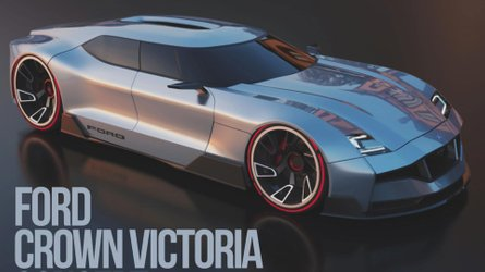 Ford Crown Victoria Concept Rendered As Future Four-Door Coupe