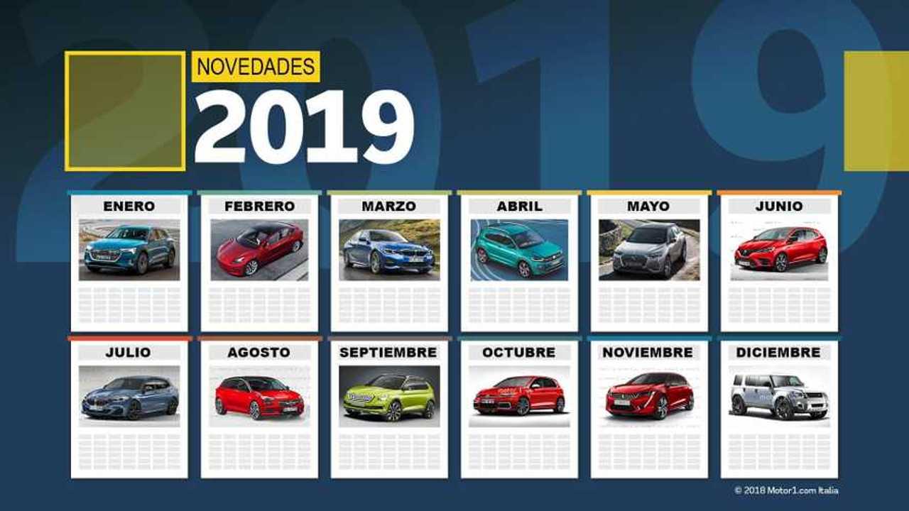Calendario novedades: los coches que llegarán en 2019