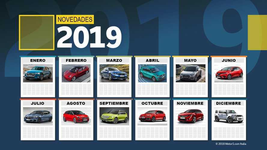 Calendario de novedades 2019: los mejores coches que llegarán este año