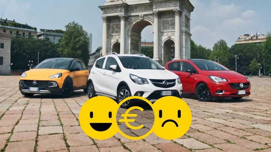 Promozione Opel gamma city car, perché conviene e perché no