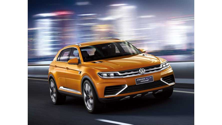 Updated Volkswagen CrossBlue Plug-In Hybrid Concept to Hit the Stage at LA Auto Show