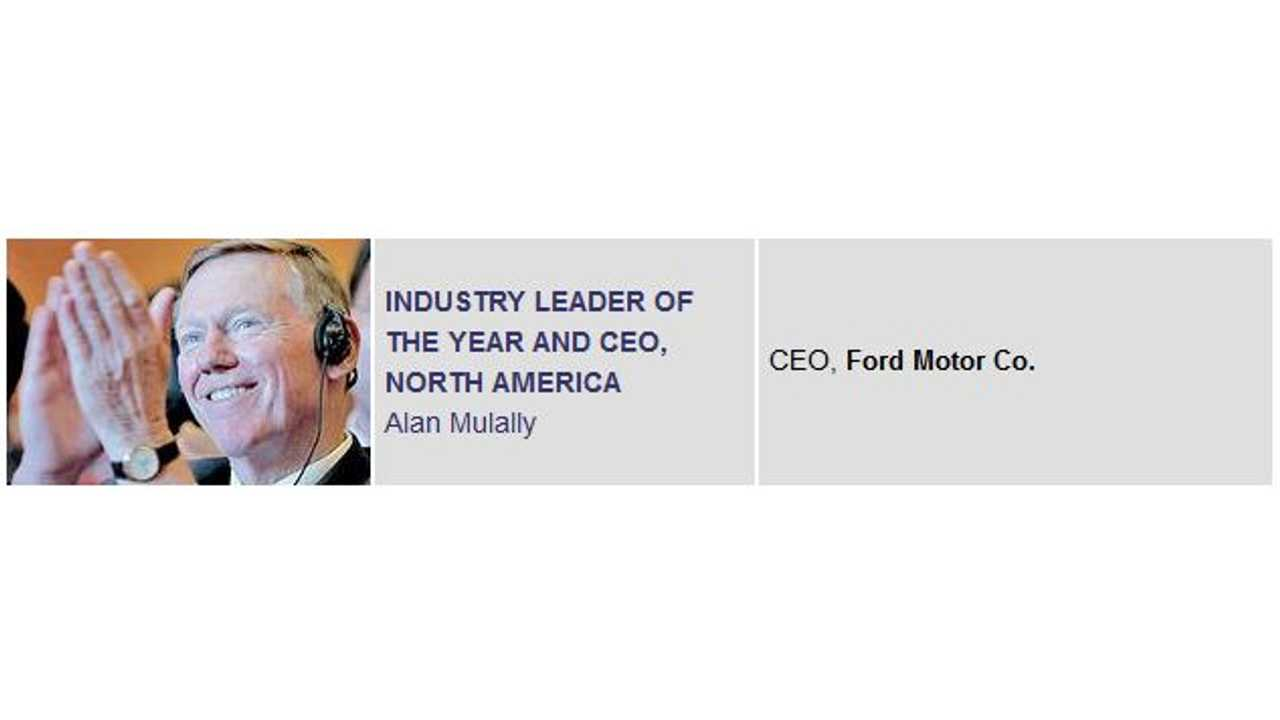 Ford's Alan Mulally Topped the List for 2013