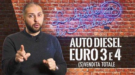 Le Dritte di Andrea, auto Diesel Euro 3 e 4: (s)vendita totale