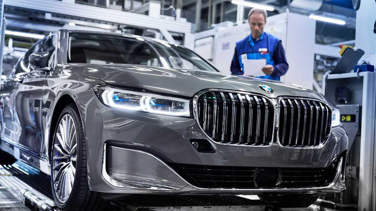 2020 BMW 7 серии Facelift производства на заводе Дингольфинг