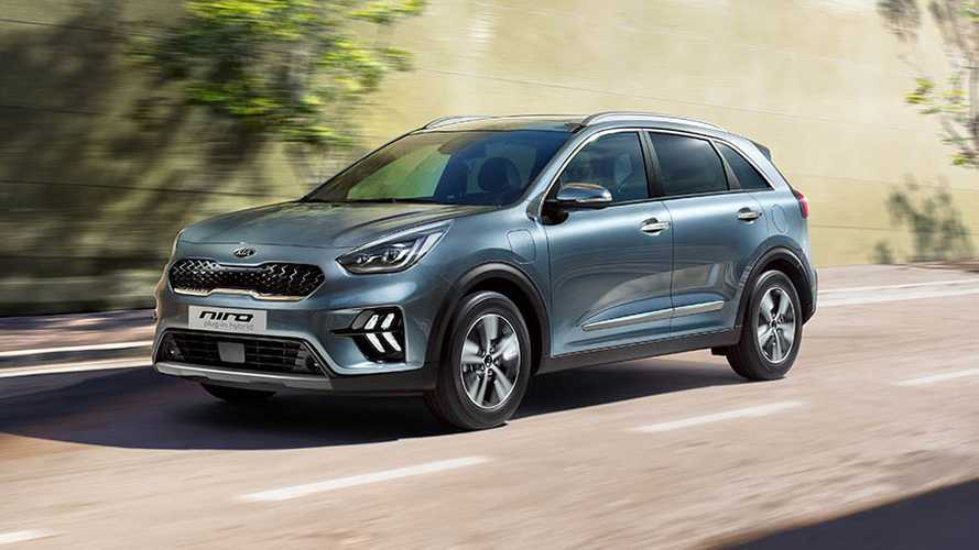 kia niro hybrid und niro plug in hybrid facelift 2019. Black Bedroom Furniture Sets. Home Design Ideas