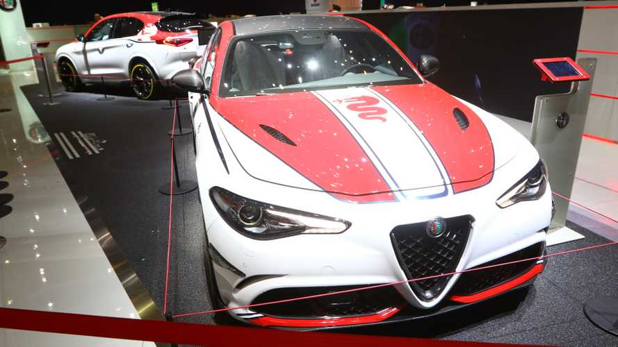 Giulia, Stelvio Quadrifoglio Alfa Romeo Racing Edition at the 2019 Geneva Motor Show