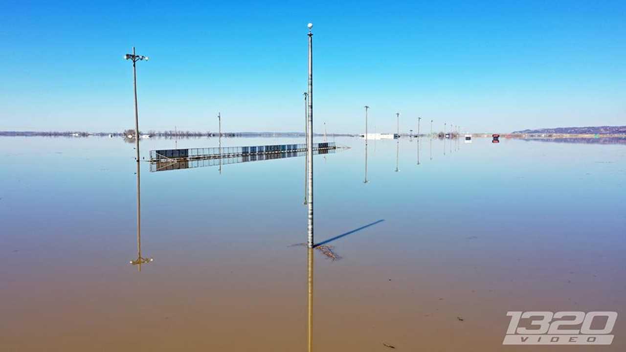 Flooded Dragstrip In Iowa
