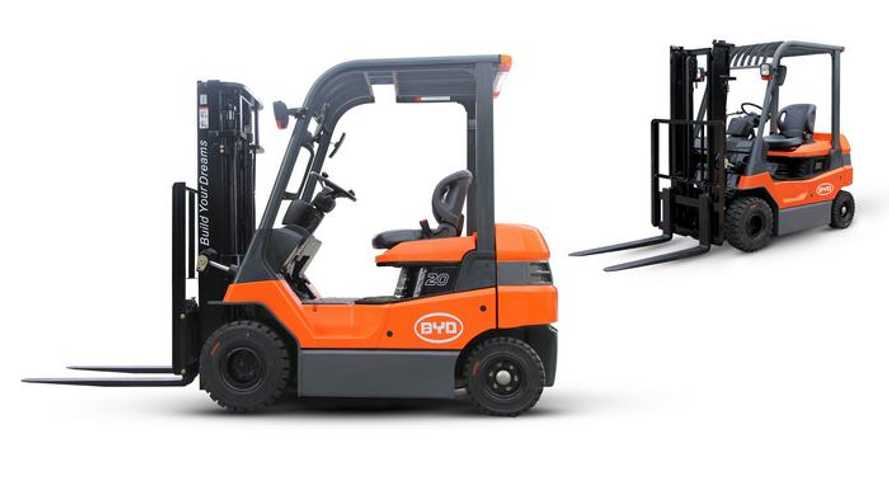 BYD Starts Production of Electric Forklift With LiFePO4 Battery
