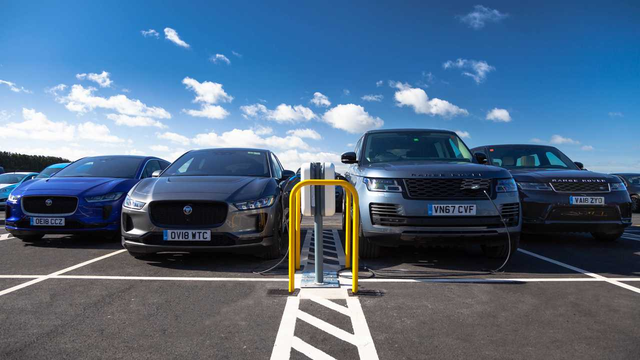 Jaguar Land Rover charging facility