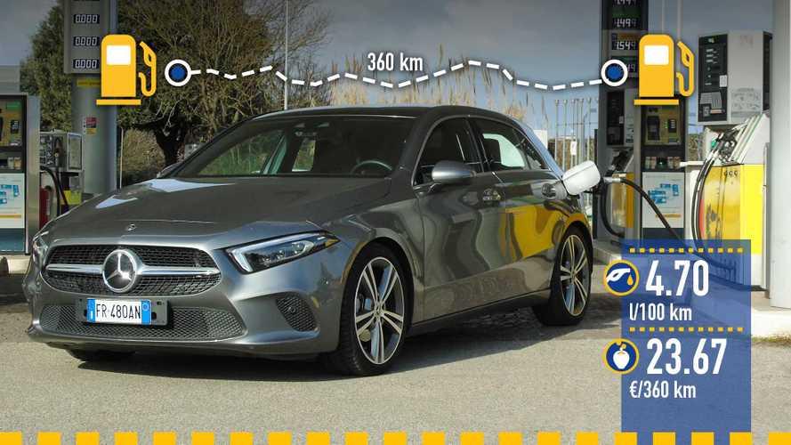 Mercedes Classe A 200, la prova dei consumi reali