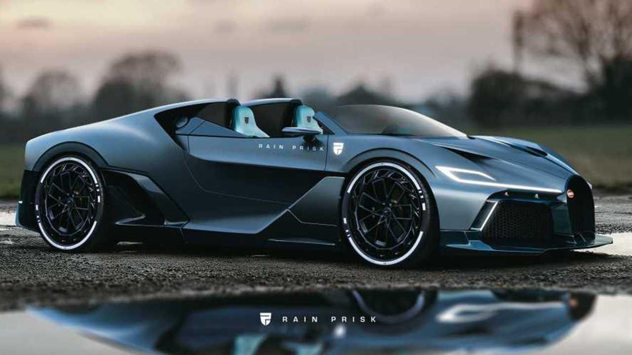 Bugatti Divo Speedster rendering