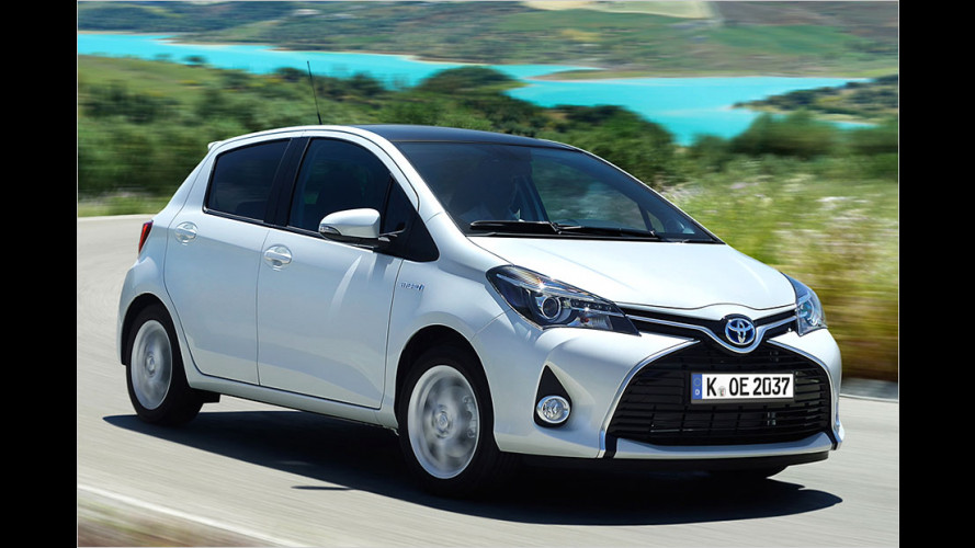 Toyota Yaris Facelift (2014) als Hybridversion im Test