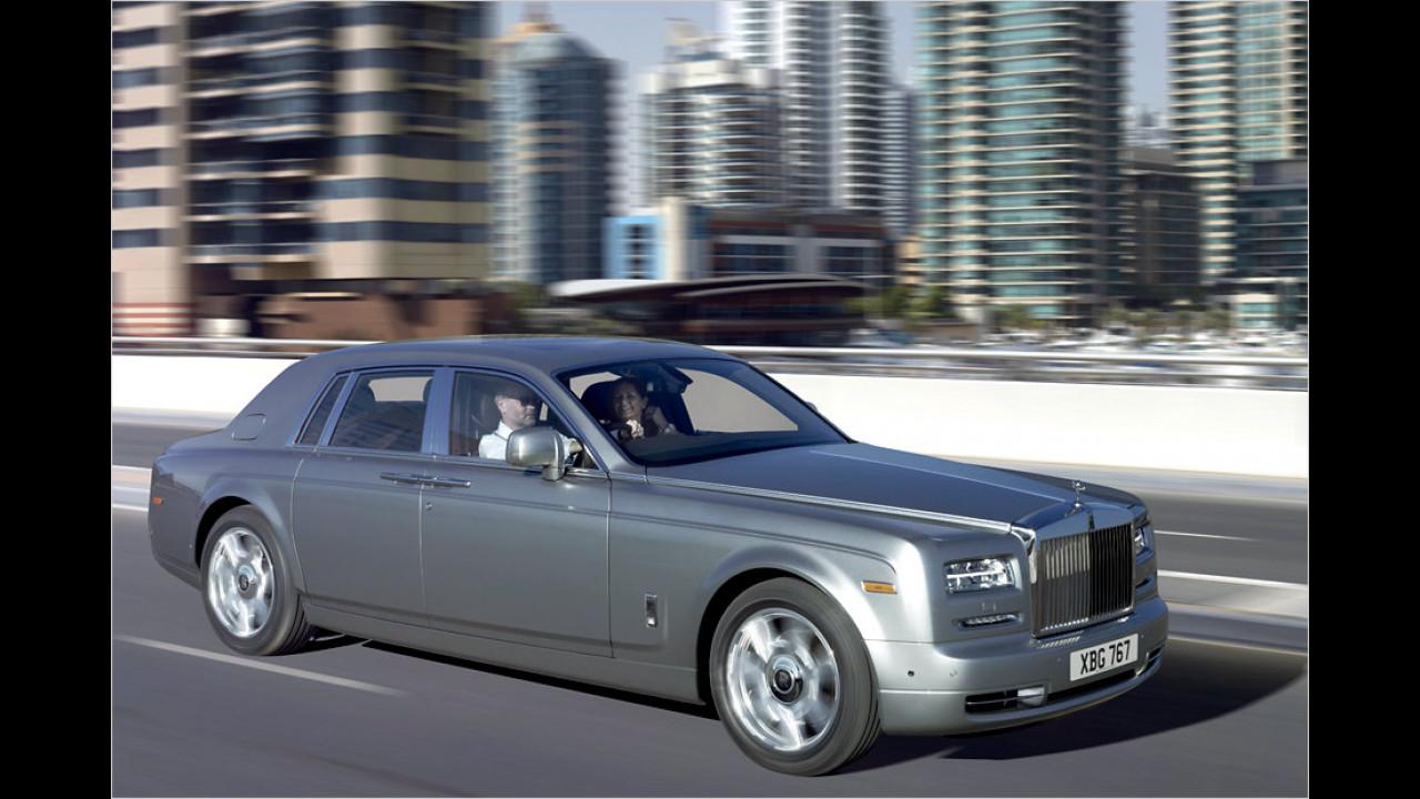 Der Rolls-Royce Phantom kam 22-mal auf die Straße. Nicht viel, aber das Auto kostet eben auch deutlich über 400.000 Euro – egal, ob Limousine, Coupé oder Drophead Coupé