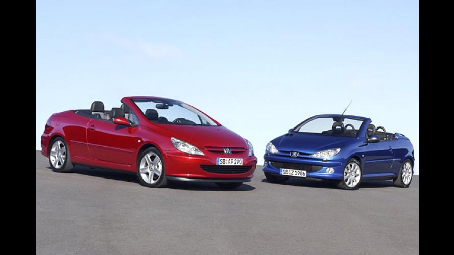 Peugeot 307 CC und 206 CC: Chapeau claque im Doppelpack