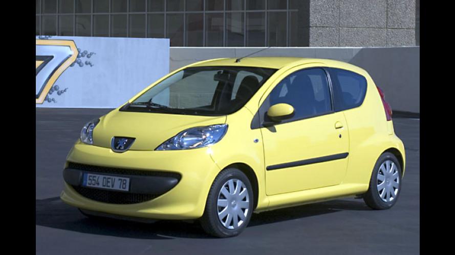 Peugeot 107: Jetzt auch mit automatisiertem Schaltgetriebe