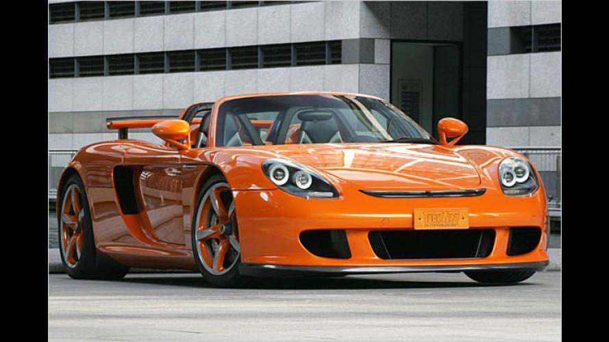 Orange, teuer und selten: Porsche Carrera GT mit 635 PS