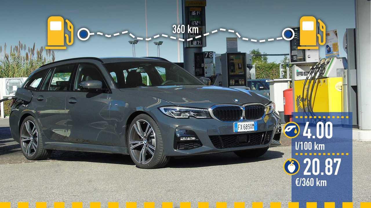 BMW 320d Touring, la prova consumi