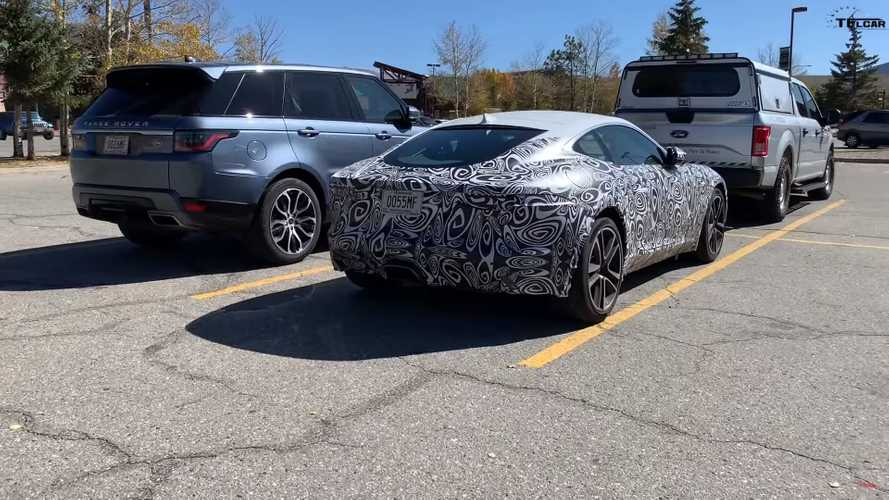 2021 Jaguar F-Type facelift screenshots from spy video