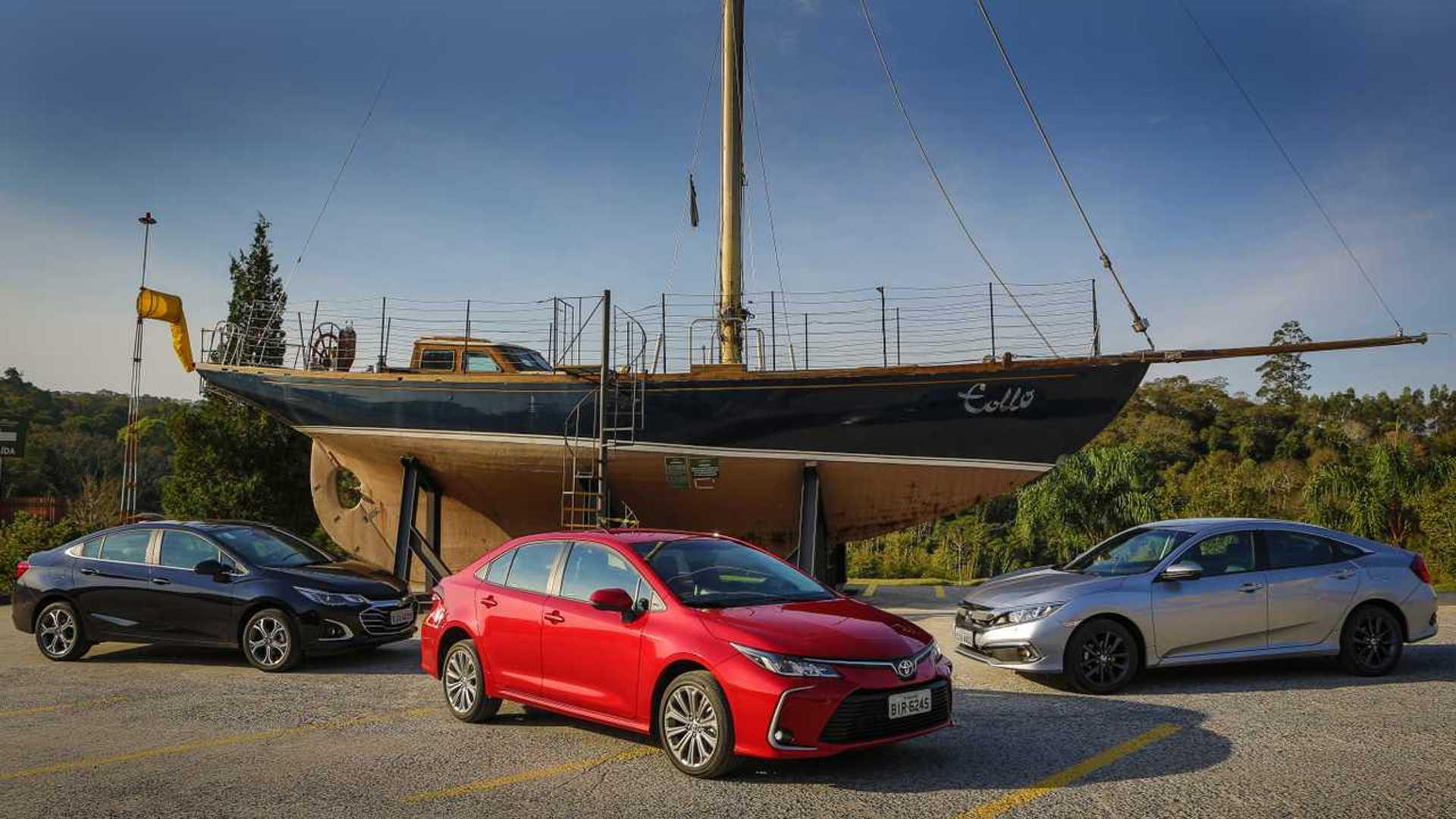 Semana Motor1.com: Corolla contra Civic e Cruze, novos HB20 e Onix
