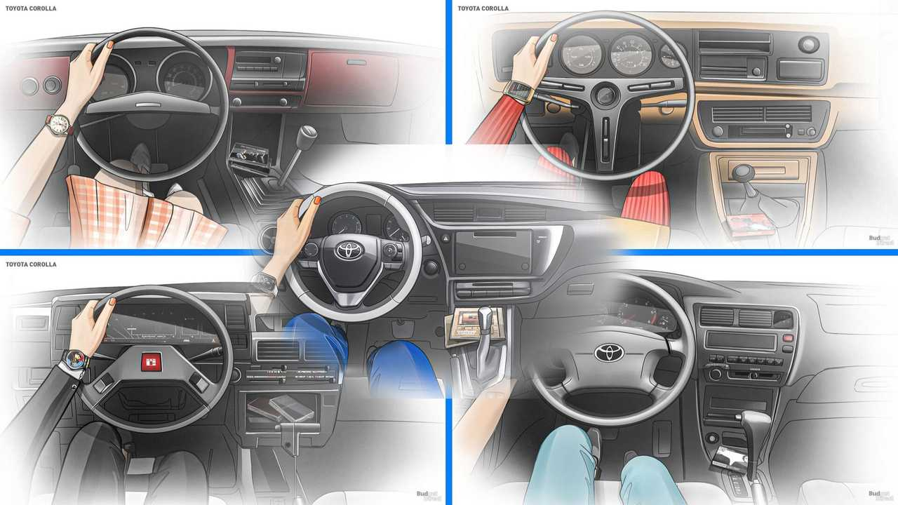 Check Out The Corolla Interior's Evolution Across All 11 Generations