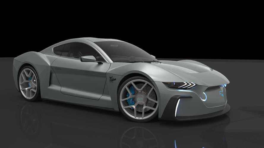 Render nos muestra un posible Ford Mustang GTE totalmente eléctrico