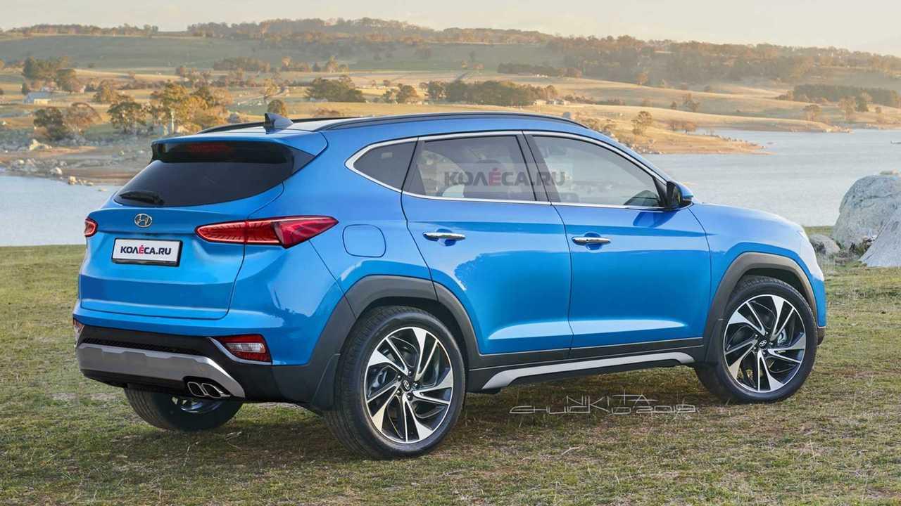 2021 Hyundai Tucson Rendered Based On Spy Shots Has Funky Face