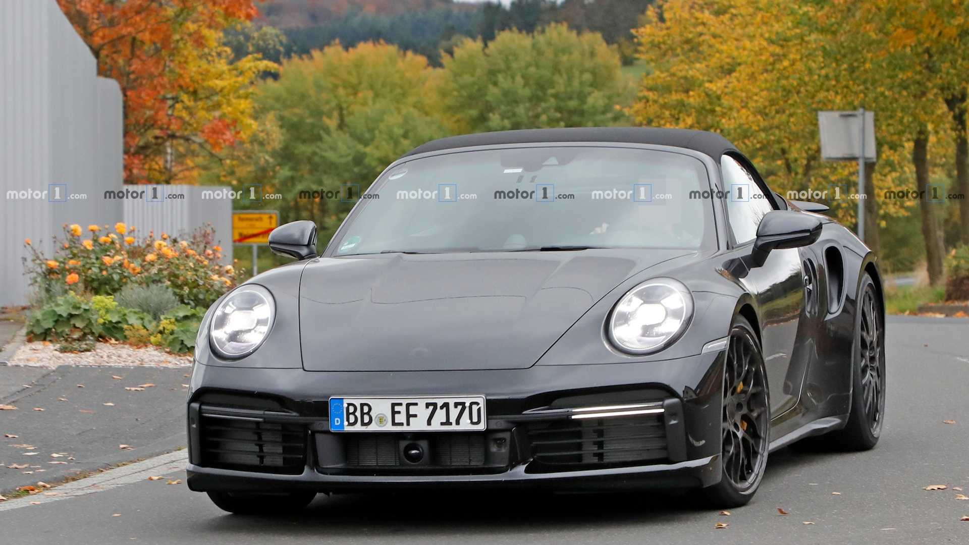 New Porsche 911 Turbo Convertible Caught Nearly Naked