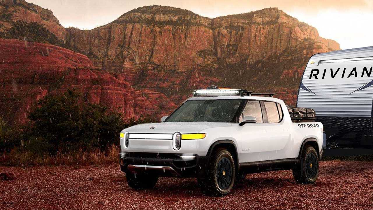 See The Rivian R1T Electric Pickup Truck Wearing Radical ...
