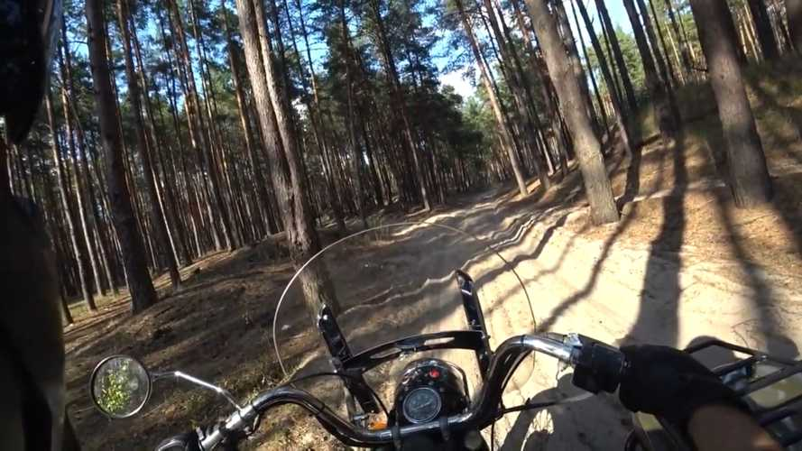 Dude Hits The Trails With His Sidecar, And It's Pretty Chill