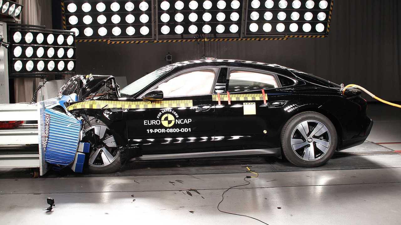 Porsche Taycan Crash Test Euro NCAP 2019
