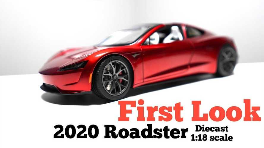 What does first diecast unboxing reveal about 2020 Tesla Roadster?