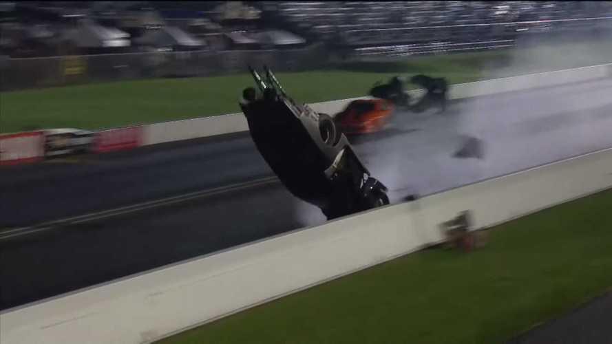 Chad Green's Big NHRA Backflip Crash Looks Scary AF