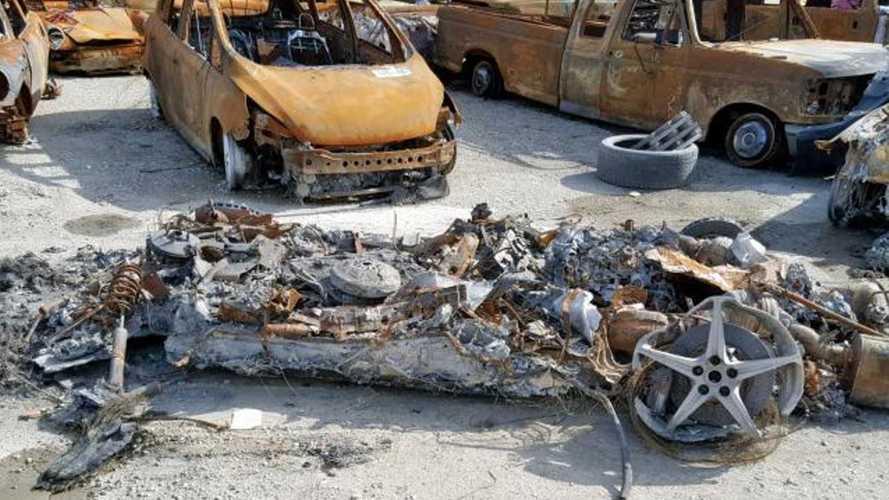 Fire ravaged heap of a 2014 ferrari 458 spider for sale