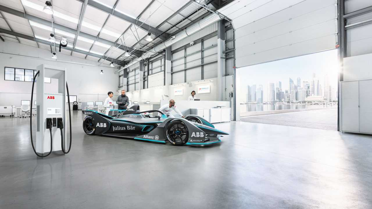 ABB DC fast charger and Formula E