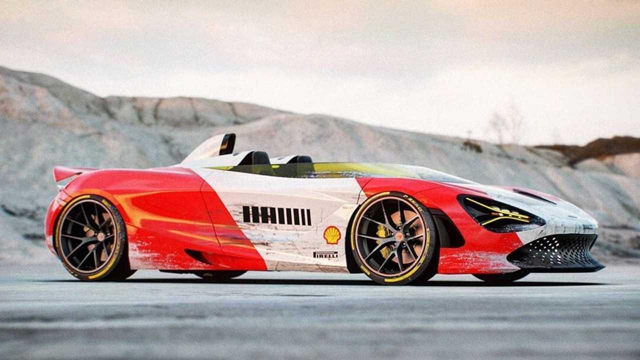 McLaren 720 Speedster renderkép