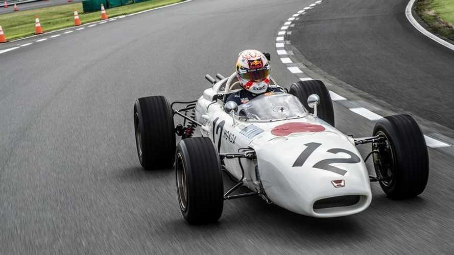 Verstappen a testé la première Honda victorieuse en F1