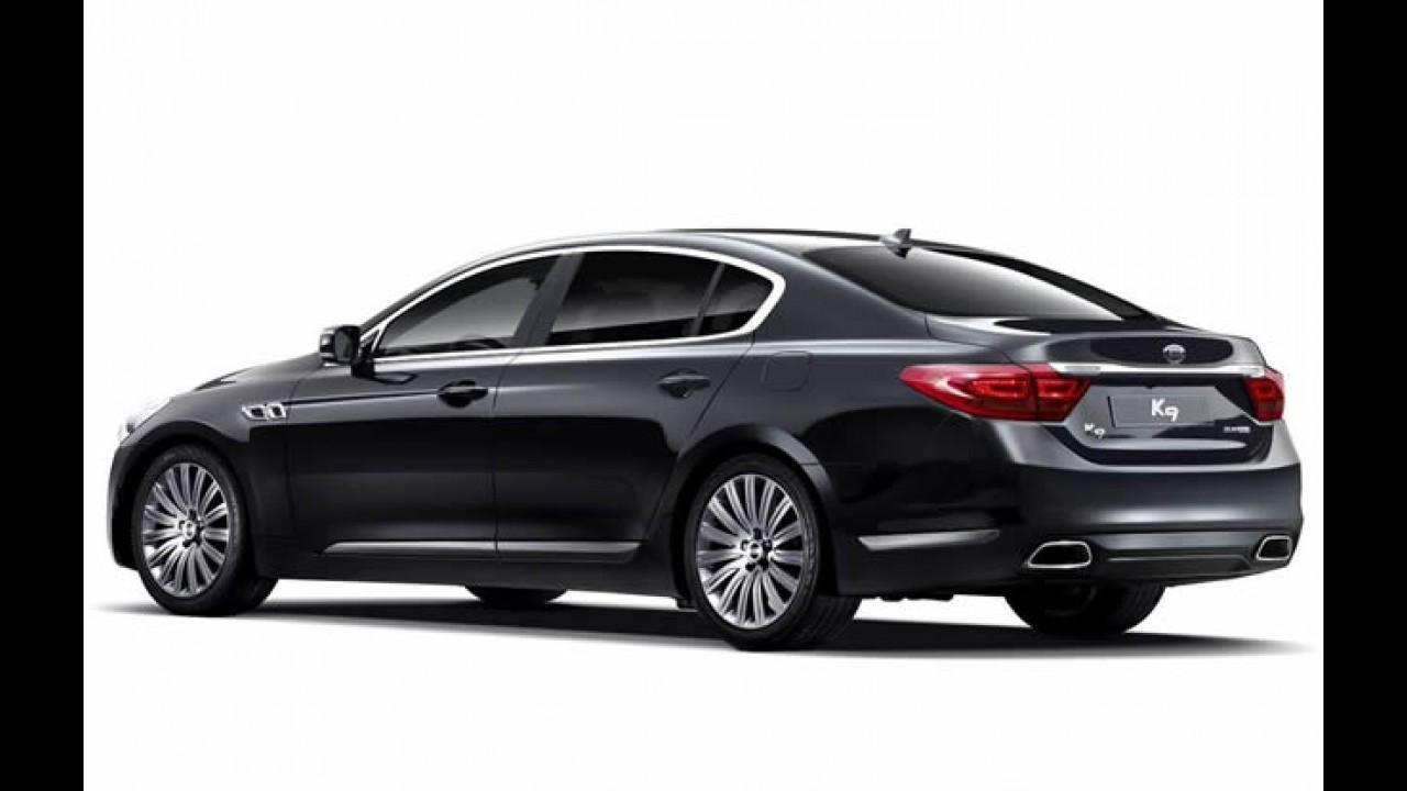Novo sedã topo de linha da Kia, K9 será lançado no Brasil no Salão do Automóvel