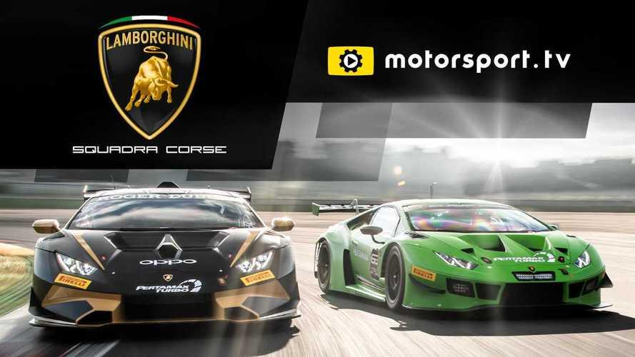 Lamborghini Squadra Corse Launches Dedicated Channel With Motorsport.tv