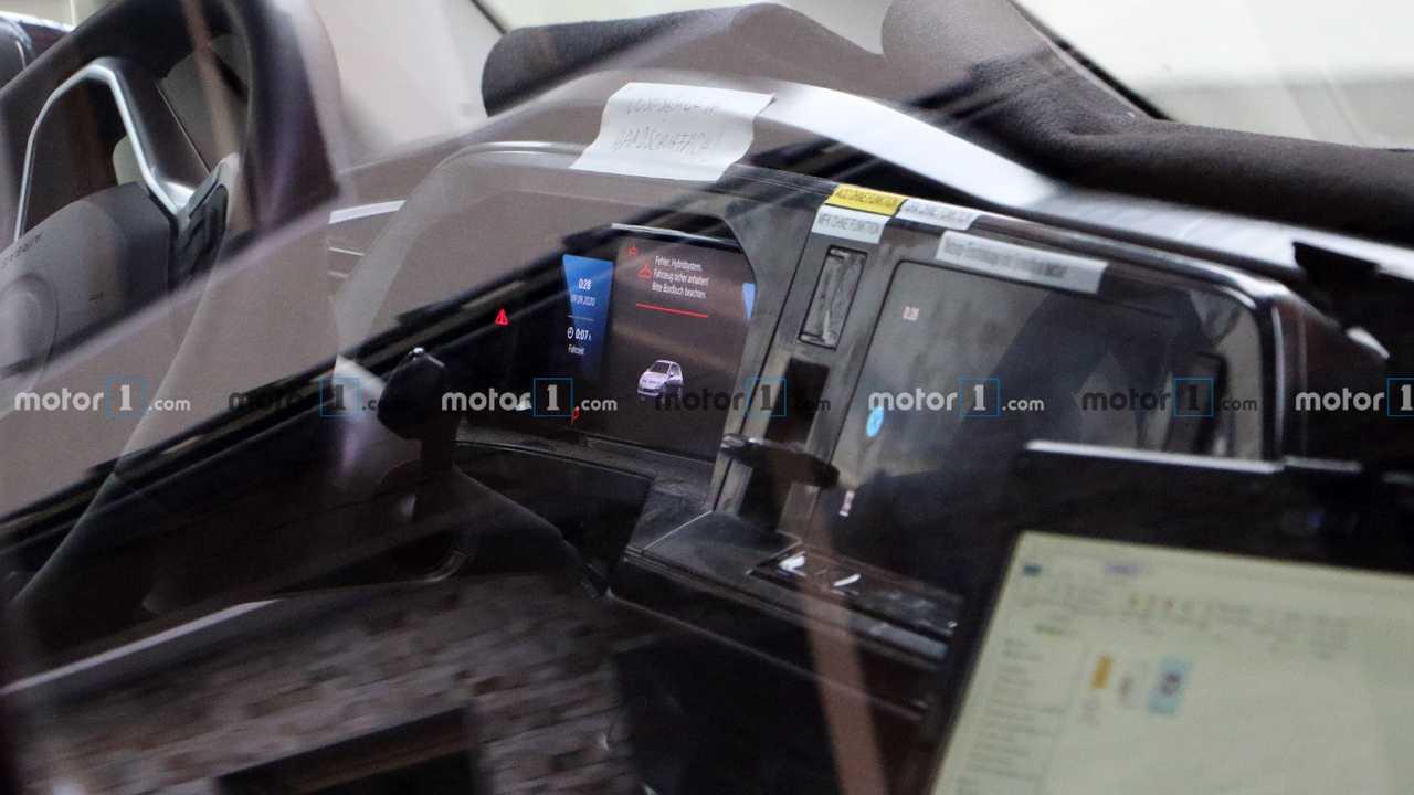 VW Transporter T7 PHEV spy photo (interior)