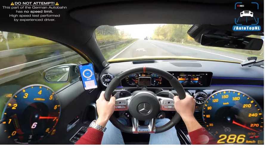 Vidéo - La Mercedes-AMG A 45 S lancée à 292 km/h sur l'autobahn